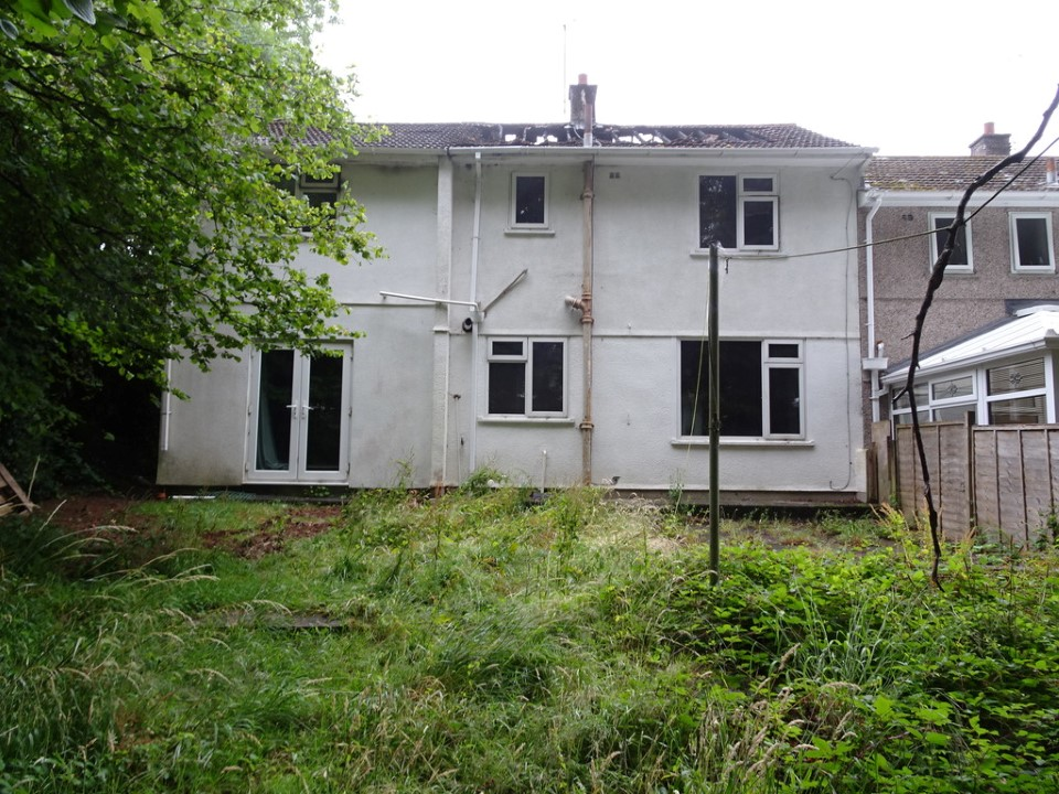 Selling a Fire Damaged House in Plymouth - rear