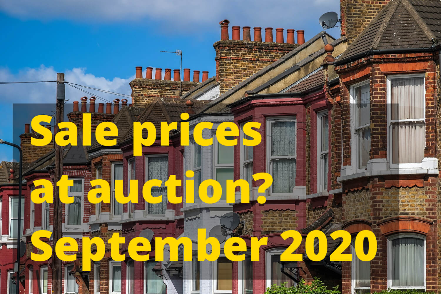 Sale prices at auction - September 2020