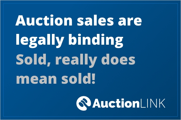 Auctioning a House - Legally Binding Sale