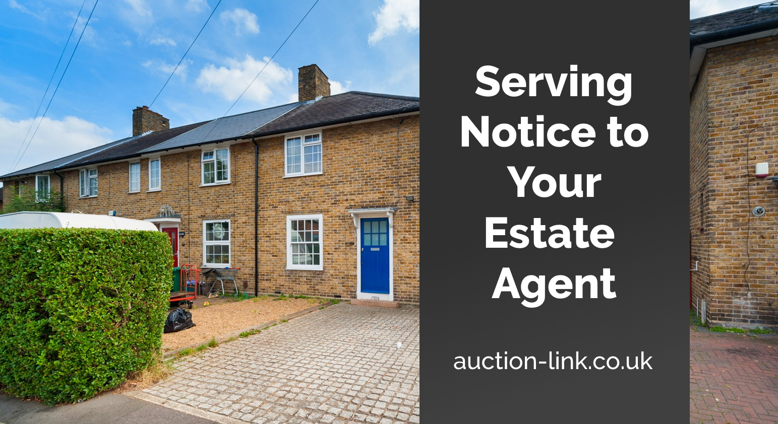 Serving notice to your estate agent